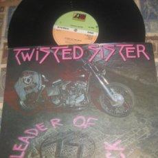 Discos de vinilo: TWISTED SISTER - LEADER OF THE PACK / I WANNA ROCK 12 PULGADAS (ATLANTIC 1983) ORIGINAL ENGLAND. Lote 220864217