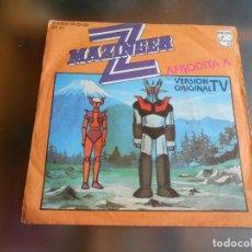Dischi in vinile: MAZINGER Z - VERSIÓN ORIGINAL TV -, SG, MAZINGER Z + 1, AÑO 1978. Lote 220871645