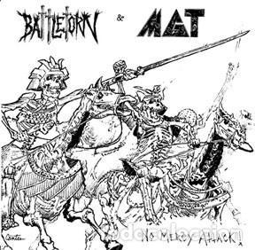 BATTLETORN & MGT - NO MERCY ATTACK! - 7'' [OUTLAW RECORDINGS, 2008 · #198/200] (Música - Discos de Vinilo - EPs - Punk - Hard Core)