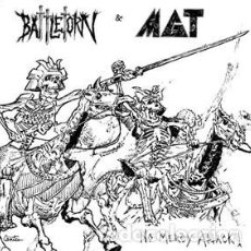 Discos de vinilo: BATTLETORN & MGT - NO MERCY ATTACK! - 7'' [OUTLAW RECORDINGS, 2008 · #198/200]. Lote 220881122