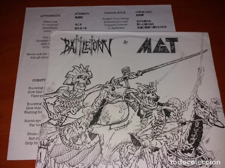Discos de vinilo: Battletorn & MGT - No Mercy Attack! - 7 [Outlaw Recordings, 2008 · #198/200] - Foto 2 - 220881122