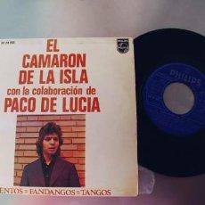 Discos de vinilo: CAMARON DE LA ISLA-EP TIENTOS +3. Lote 220902180