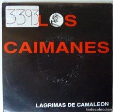 Discos de vinilo: LOS CAIMANES // LAGRIMAS DE CAMALEON //PROMO // 1992 // SINGLE. Lote 220919717