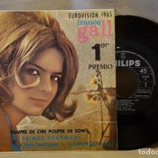 Discos de vinil: EUROVISION 1965 FRANCE GALL 11 PREMIO - POUPEE DE CIRE POUPEE DE SON. Lote 220919877