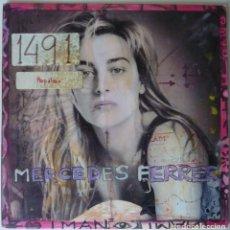 Discos de vinilo: MERCEDES FERRER // ERES 1 IMAN // PROMO // 1991 // SINGLE. Lote 220920480