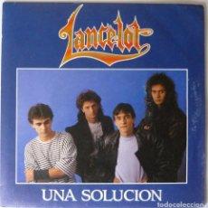 Discos de vinilo: LANCELOT // UNA SOLUCION // PROMO // 1989 // SINGLE. Lote 220921211