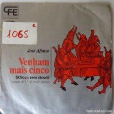 Discos de vinilo: JOSE ALFONSO // CHOCA ESOS CINCOS // PROMO // 1974 // SINGLE. Lote 220923490