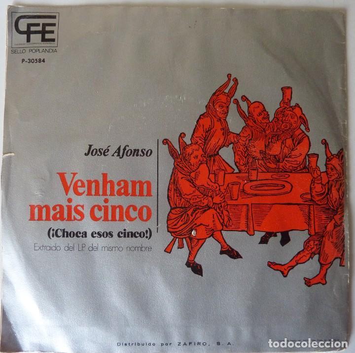 Discos de vinilo: JOSE ALFONSO // CHOCA ESOS CINCOS // PROMO // 1974 // SINGLE - Foto 2 - 220923490