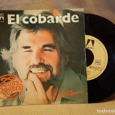 Discos de vinilo: KENNY ROGERS - EL COBARDE. Lote 220927011