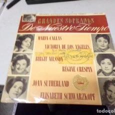 Discos de vinilo: DISCO LP FIRMADO VICTORIA DE LOS ANGELES - GRANDES SOPRANOS DE NUESTRO TIEMPO - LA VOZ DE SU AMO. Lote 220928862