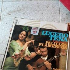 Discos de vinilo: LUCERO TENA Y SU BAILE . PALILLOS FLAMENCOS . LP. Lote 220935557