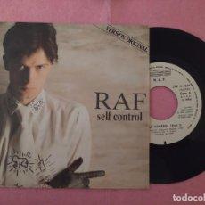 """Discos de vinilo: 7"""" R. A. F. – SELF CONTROL - CARRERE CRE A-4338 - SPAIN PRESS - PROMO - 1SIDED (VG++/VG++). Lote 220942975"""