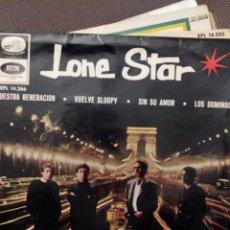 Discos de vinilo: LONE STAR: NUESTRA GENERACION, VUELVE SLOOPY, SIN SU AMOR,LOS DOMINGOS EMI 1966. Lote 220943131