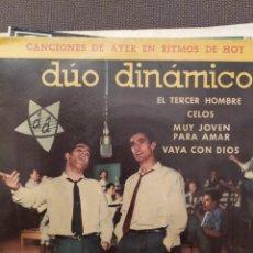 Discos de vinilo: DUO DINAMICO: EL TERCER HOMBRE, CELOS, MUY JOVEN PARA AMAR, VAYA CON DIOS 1961. Lote 220943522