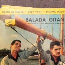 Discos de vinilo: DÚO DINÁMICO: BALADA GITANA, NOCHE DE MOSCU, BABY TWIST + 1, EMI 1962. Lote 220943876