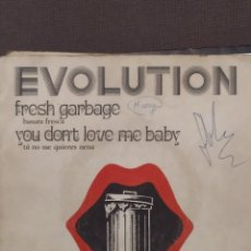 Discos de vinilo: EVOLUTION: FRESH GARBAGE, YOU DON'T LOVE ME BABY PROGRESIVO, EKIPO DIMENSION 1969. Lote 220944662