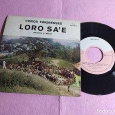 "Discos de vinilo: 7"" LORO SA'E: COROS TIMORENSES - RAI KALAN NAROMAN +3 - LORO SA'E – LS-001 - PORTUGAL EP (EX-/EX). Lote 220944696"