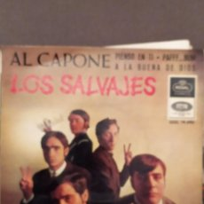 Discos de vinilo: LOS SALVAJES: AL CAPONE,PIENSO EN TI, PAFFF..BUM , A LA BUENA DE DIOS REGAL 1966. Lote 220945697
