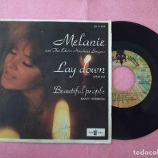 "Discos de vinilo: 7"" MELANIE & THE EDWIN HAWKINS SINGERS ‎– LAY DOWN - BUDDAH RECORDS ‎20 11 029 - SPAIN (EX-/EX). Lote 220946312"