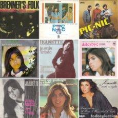 Discos de vinilo: BRENNERS FOLK, PIC NIC, JEANETTE, CANTA EN CATALÁN, INGLÉS, ESPAÑOL FRANCÉS Y JAPONÉS. Lote 220946320