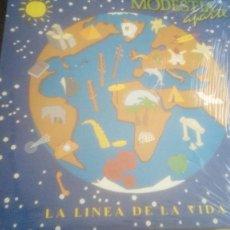 Discos de vinilo: MODESTIA APARTE. LA LINEA DE LA VIDA. LP. (1992 SPAIN). Lote 220948531