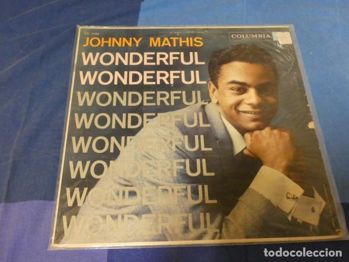 EXPRO LP USA CIRCA 1965 JOHNNY MATIS WONDERFUL SOLO PRECIOSA TAPA NO HAY DISCO (Música - Discos - LP Vinilo - Rock & Roll)