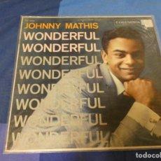 Discos de vinilo: EXPRO LP USA CIRCA 1965 JOHNNY MATIS WONDERFUL SOLO PRECIOSA TAPA NO HAY DISCO. Lote 220949543