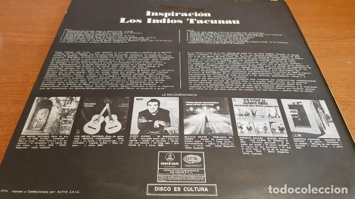 Discos de vinilo: LOS INDIOS TACUNAU / INSPIRACIÓN / LP ODEON-ARGENTINA-1974 / MBC. ***/*** - Foto 2 - 220960382