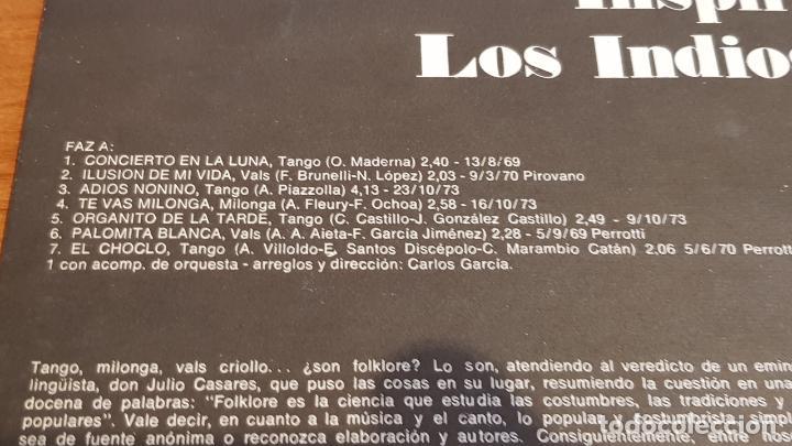 Discos de vinilo: LOS INDIOS TACUNAU / INSPIRACIÓN / LP ODEON-ARGENTINA-1974 / MBC. ***/*** - Foto 3 - 220960382