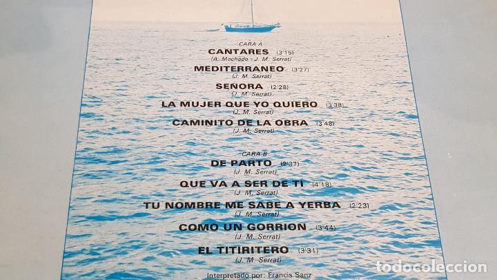 Discos de vinilo: CANTARES Y CANCIONES DE JOAN MANUEL SERRAT / LP - OLYMPO-1977 / MBC. ***/*** - Foto 3 - 220960752