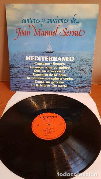 CANTARES Y CANCIONES DE JOAN MANUEL SERRAT / LP - OLYMPO-1977 / MBC. ***/*** (Música - Discos - LP Vinilo - Cantautores Españoles)