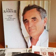 Discos de vinilo: CHARLES AZNAVOUR / MISMO TÍTULO / LP - TREMA-1986 / MBC. ***/*** ENCARTE. Lote 220968871