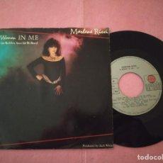 "Discos de vinilo: 7"" MARLENE RICCI – A WOMAN IN ME - ARIOLA PB 40633 - PORTUGAL PRESS (VG++/VG++). Lote 220971173"