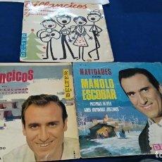 Discos de vinilo: LOTE 3 SINGLES VINILO ( MANOLO ESCOBAR - VILLANCICOS ) VER FOTOS FIRMAS. Lote 220985663