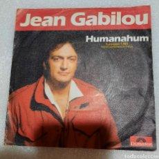 Disques de vinyle: JEAN GABILOU - HUMANAHUM. Lote 221001552