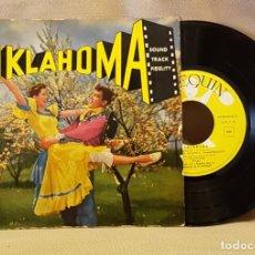 Discos de vinilo: OKLAHOMA - OBERTURA - LA CALESA DEL AMOR - DIRAN QUE ESTAMOS ENAMORADOS - OKLAHOMA - FINAL. Lote 221075372