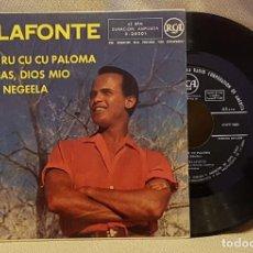 Discos de vinilo: BELAFONTE - CU CU RU CU CU PALOMA -GRACIAS, DIOS MIO - HAVA NEGEELA. Lote 221076873