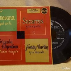 Discos de vinilo: CARAVANA IGUAL QUE TU - SOCORRAS Y SU ORQUESTA - BRIGADA ARGENTINA - FREDDY MARTIN. Lote 221077051