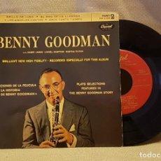 Discos de vinilo: BENNY GOODMAN - LA HISTORIA DE BENNY GOODMAN - BRILLO DE LUNA - EL RAG DCE LA LLAMADA. Lote 221077583