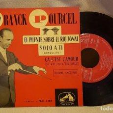 Discos de vinilo: FRANCK POURCEL - EL PUENTE SOBRE EL RIO KWAI. Lote 221077845