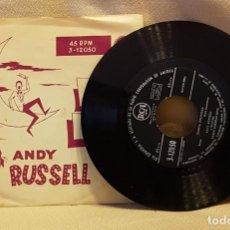 Discos de vinilo: ANDY RUSSELL - SOY UN EXTRAÑO - CUANTA FELICIDAD. Lote 221078231