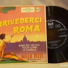 Discos de vinilo: ARRIVEDERCHI ROMA - BUENOS DIAS - VIOLIN GITANO - LA ESPAÑOLA - TRISTEZA. Lote 221078576