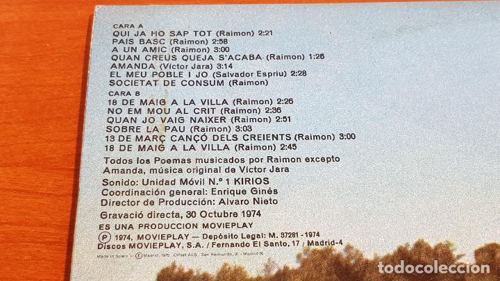 Discos de vinilo: RAIMON / CAMPUS DE BELLATERRA / LP-GATEFOLD - MOVIE PLAY-1974 / MBC. ***/*** - Foto 4 - 221080687
