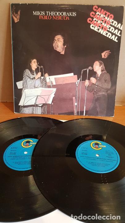 MIKIS THEODORAKIS / PABLO NERUDA - CANTO GENERAL / DOBLE LP - CARNABY-1976 / MBC. ***/*** (Música - Discos - LP Vinilo - Cantautores Extranjeros)
