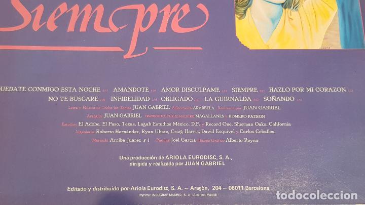 Discos de vinilo: ROCIO DURCAL / SIEMPRE / LP - ARIOLA-1986 / MBC. ***/*** - Foto 3 - 221084676
