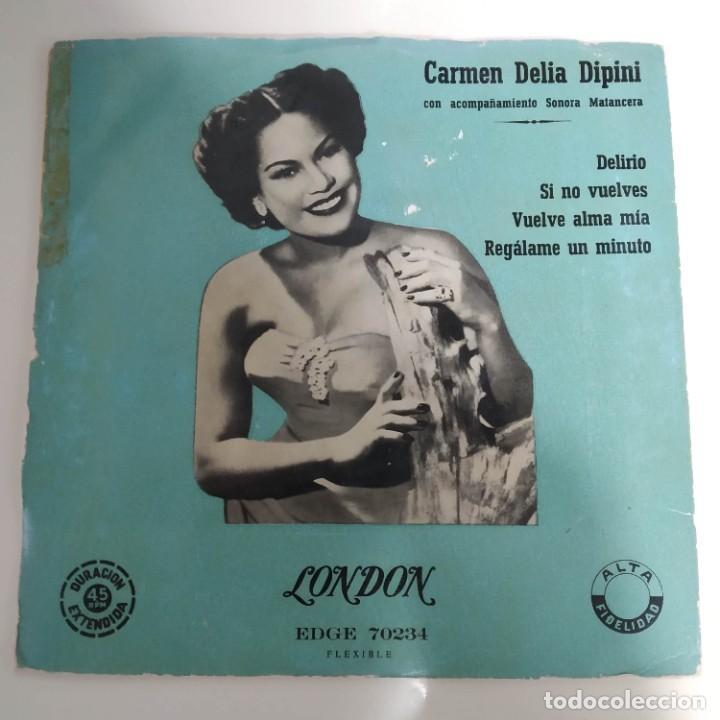CARMEN DELIA DIPINI SONORA MANTECERA - DELIRIO EP AÑOS 50 (Música - Discos de Vinilo - EPs - Grupos y Solistas de latinoamérica)