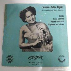 Discos de vinilo: CARMEN DELIA DIPINI SONORA MANTECERA - DELIRIO EP AÑOS 50. Lote 221084701