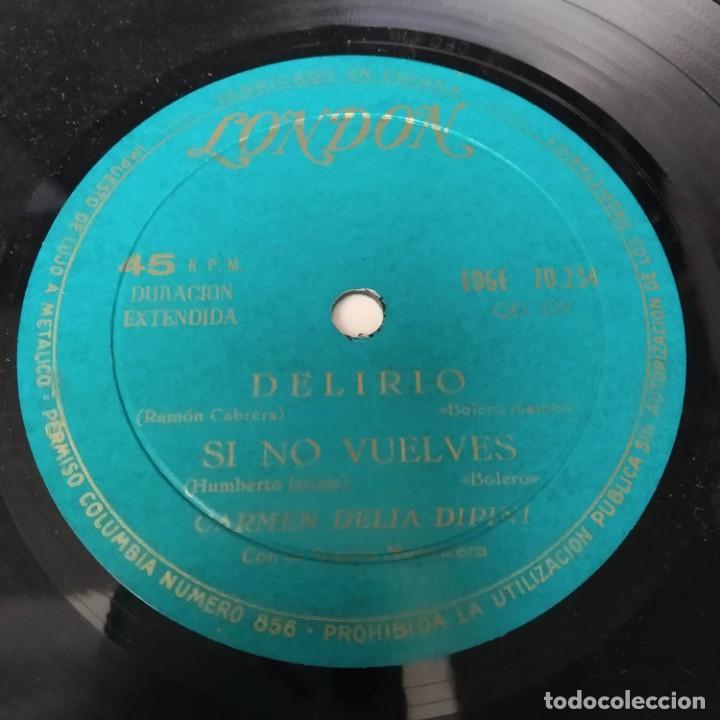 Discos de vinilo: Carmen Delia Dipini Sonora Mantecera - Delirio EP Años 50 - Foto 3 - 221084701