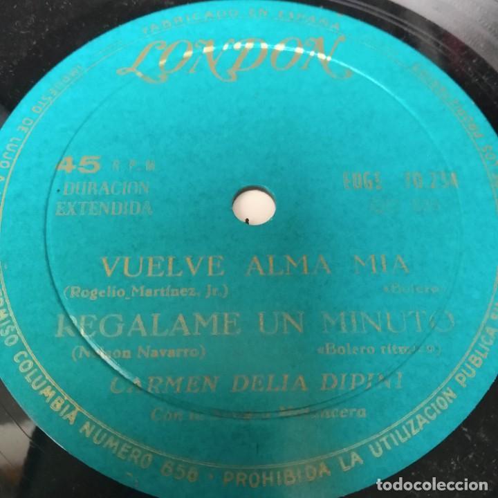 Discos de vinilo: Carmen Delia Dipini Sonora Mantecera - Delirio EP Años 50 - Foto 4 - 221084701