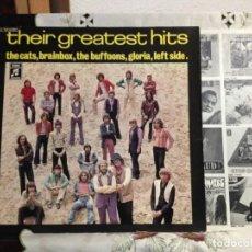 Discos de vinilo: THE BUFFONS, GLORIA, LEFT SIDE, THE CATS, BRAINBOX - THEIR GREATEST HITS ALBUM LP 1969 GERM.. NM-NM. Lote 221085097
